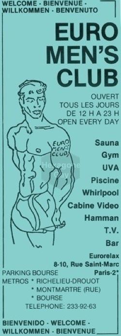 sauna gay paris euro mens club