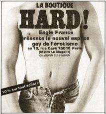 apparaissent quelques librairies orientées vers la littérature homosexuelle pour hommes ou pour femm